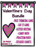 Valentine's Day BUNDLE: Games, Math, Writing, and Sticker Charts