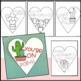 Valentine's Day Activity | Cactus Valentines Notes & Cards