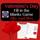 Valentine's Day Activity |  Fill in the Blanks Valentine's Day Kindness Game