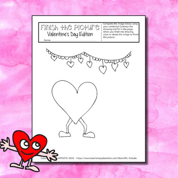 Valentine's Day Activity: Finish the Picture!