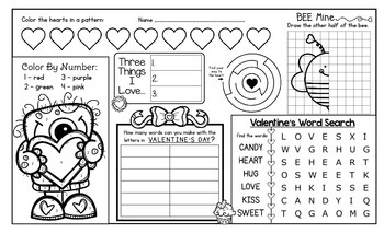 Valentine S Day Activity Mat A Page Full Of Fun Valentine S Day