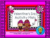 Valentine's Day Activity Mats - Holiday - February