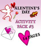 Valentine's Day Activity Pack 3
