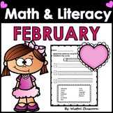 February Math and Literacy Centers- No Prep