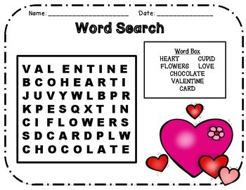 Valentine's Day Activity Pack Aligned with the 2nd Grade CCCS