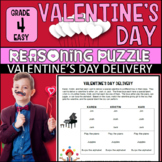 Valentine's Day Activity: Reasoning Puzzle (Grade 4: V-Day Delivery - Easy)