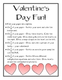 Valentine's Day Activity - Reviews Fractions, Poetry, and