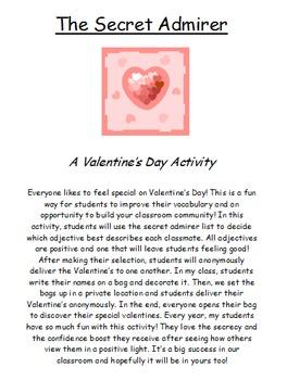 Valentine's Day Activity- Vocabulary Builder