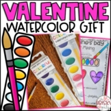 Valentine's Day Activity- Watercolor Painting, Parent Gift