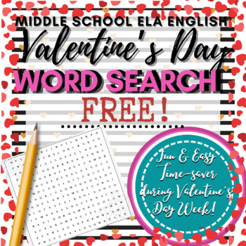 Valentine's Day Activity: Word Search