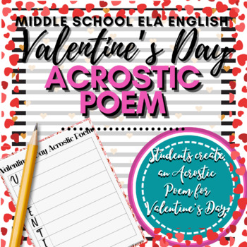 Valentines Day Activity Acrostic Poem by Your Best Drafts  TpT