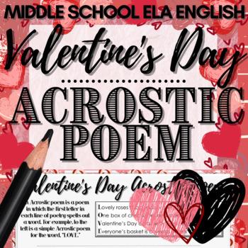 Valentine's Day Activity: Acrostic Poem