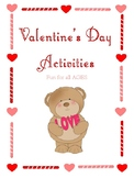 Valentine's Day Activity Worksheets