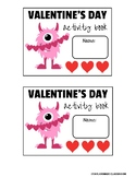 Valentine's Day Activity book