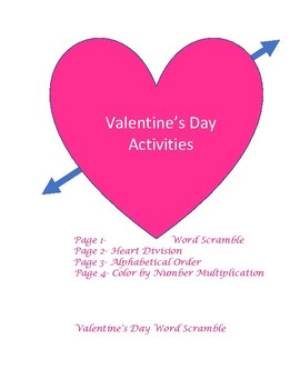 Valentine's Day Actvities