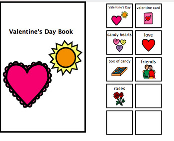 Valentine's Day Adapted Book