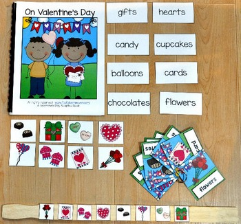 """Valentine's Day Adapted Book And Activities--""""On Valentine's Day"""""""