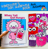 """Valentine's Day Adapted Book And Activities:  """"When Yeti Got Hungry"""""""