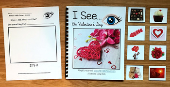"Valentine's Day Adapted Book:  ""I See On Valentine's Day"" (w/Real Photos)"