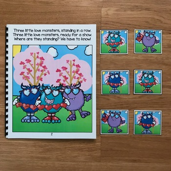 Valentine's Day Adapted Book:  Three Little Love Monsters