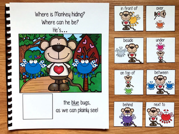 """Valentine's Day Adapted Book--""""Where Is Monkey Hiding?"""""""