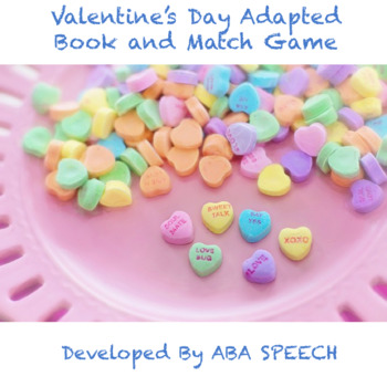 Valentine's Day Adapted Book and Match Game