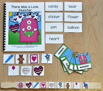 "Valentine's Day Adapted Book and Vocablulary Activities--""Love Monster"""