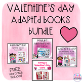 Valentine's Day Adapted Books BUNDLE with Freebie!