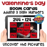 Valentine's Day Adding 3 Digit Numbers Boom Cards | Uncove