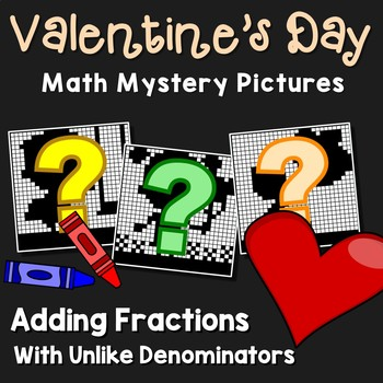 Valentine's Day Adding Fractions With Unlike Denominators