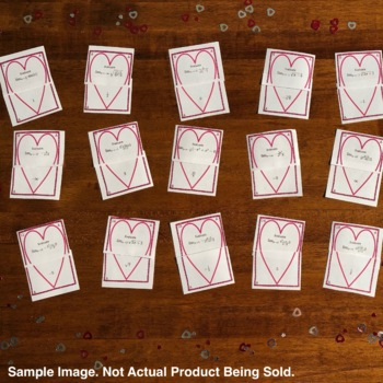 Valentine's Day: Adding and Subtracting Fractions Matching Game