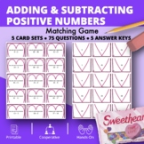 Valentine's Day: Adding and Subtracting Integers #1 Matching Game