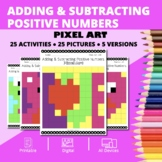 Valentine's Day: Adding and Subtracting Integers #1 Pixel