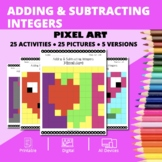 Valentine's Day: Adding and Subtracting Integers #2 Pixel