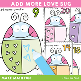 Valentine's Day Addition Activity Cards - Add More Love Bug