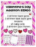 Valentine's Day Addition Bingo