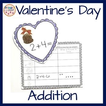 Valentine's Day Addition Center or Activity