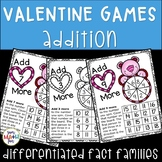 Valentine's Day Addition Games (1's to 12's) - Build Fact Fluency!