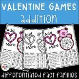 Valentine's Day Addition Games - Build Fact Fluency!