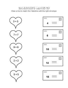 Valentine's Day Addition Match-up