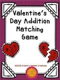 Valentine's Day Addition Matching Game