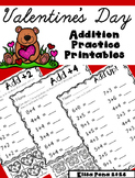 Valentine's Day Addition Practice Printables