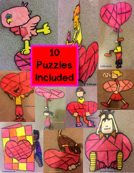Valentine's Day Addition Puzzles