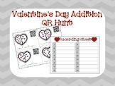 Valentine's Day Addition QR Hunt - Valentine's Day Math