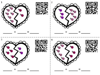 Valentine's Day Addition QR Hunt - Valentine's Day Math