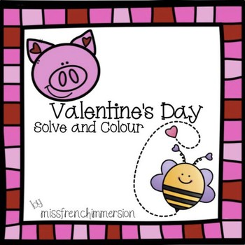 Valentine's Day: Colour by Code (Addition)