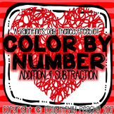 Valentine's Day Addition & Subtraction Color By Number Freebie!!