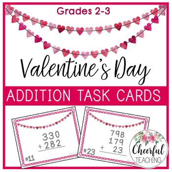 Valentine's Day Addition Task Cards