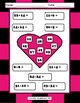 Valentine's Day Addition WS - Cut/Paste, Regrouping/No Regrouping - 6 pgs