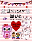 Valentine's Day Addition Worksheets - Pre-K - 1st Grade (4